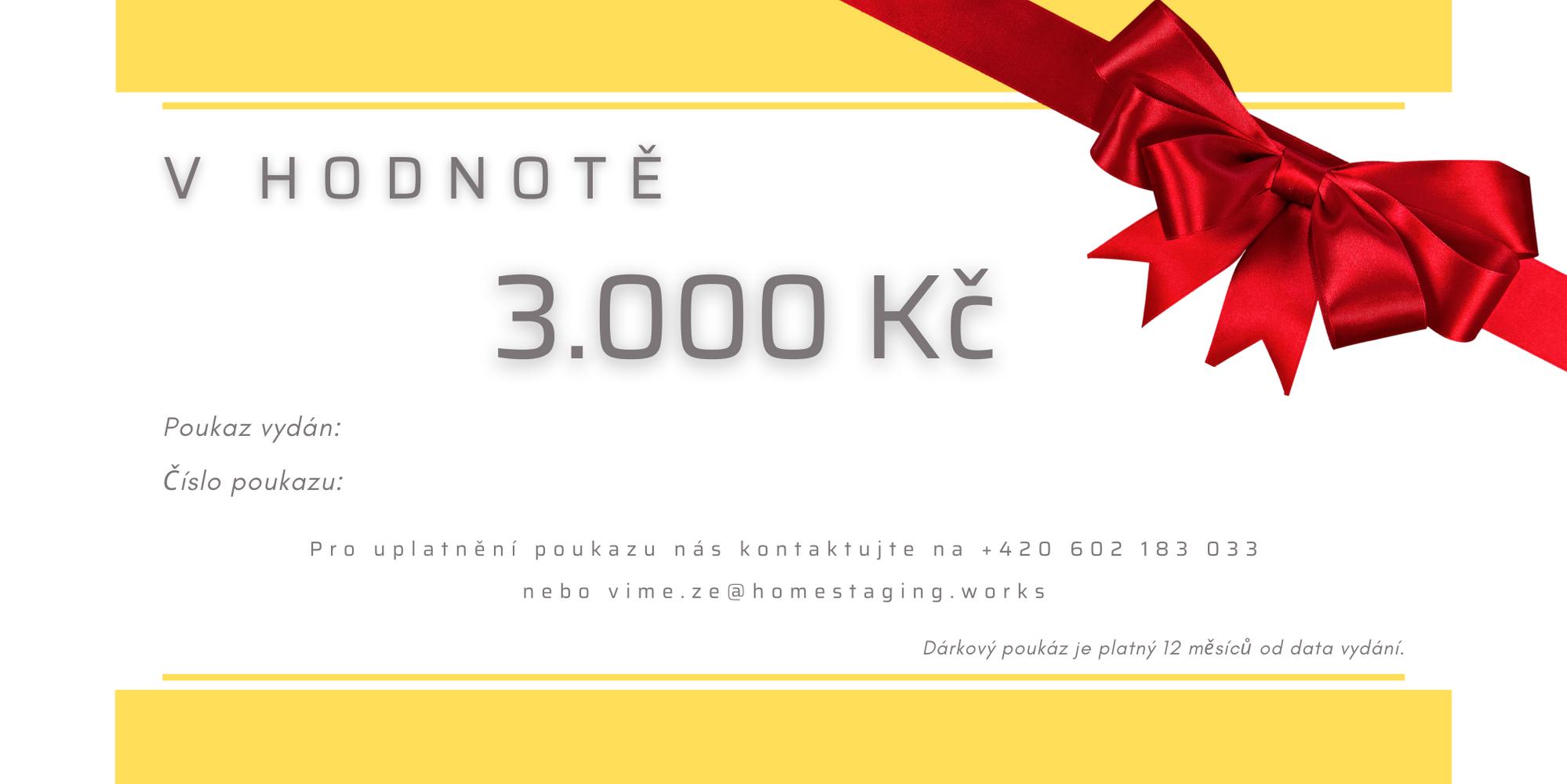 Dárkový poukaz 3.000 Kč